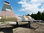 ROCAF F-5A 1124 Display at Aviation Museum Right Rear View 20130928.jpg