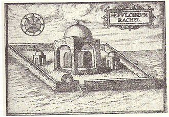 Rachel's Tomb - Travelers' sketch of Rachel's Tomb, 1585