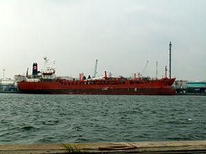 Rachel B docked at Port of Antwerp, Belgium 01-Sep-2005.jpg