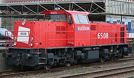 Railion 6508 in Den Haag