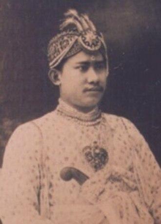 Birendra Kishore Manikya - Image: Raja Birendra Kishore Manikya