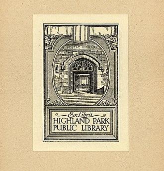 Ralph Fletcher Seymour - Image: Ralph Fletcher Seymour Bookplate Highland Park Library