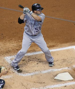 Ramón Hernández - Batting with the Rockies in 2012