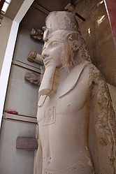 Ramses II colossal statue top in Memphis 2010 rotated.jpg