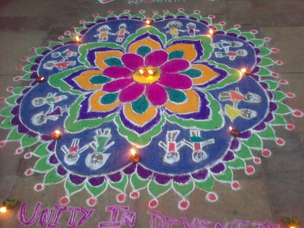 File Rangoli Kolam Chennai Tamil Nadu377 Jpg Wikimedia