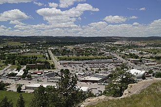 Rapid City, South Dakota - View of the city from Dinosaur Park