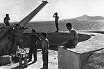 תותח מצרי בקרבת מצרי טיראן ב-1957