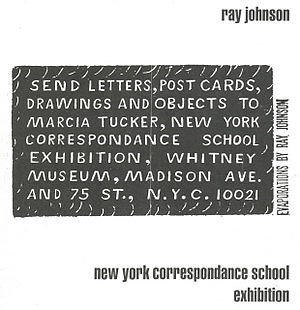 Mail art - Ray Johnson's invitation to the first mail art show, 1970
