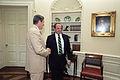 Reagan's meeting with Oleg Gordievsky in the Oval Office (03).jpg