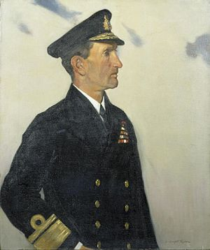 Walter Cowan - Rear-Admiral Sir Walter Henry Cowan, painted by Leonard Campbell Taylor in 1920