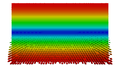 Rectangular waveguide TE01 (B field, on-end view).png