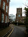 Rectory Lane with St. Andrew's Church, Ampthill - geograph.org.uk - 155590.jpg