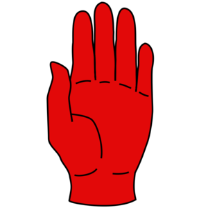 Red Hand of Ulster - The Red Hand of Ulster, right and left hand versions