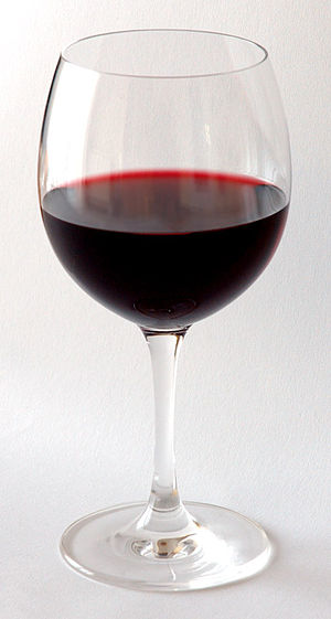 Red wine - A glass of red wine