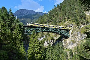 Mittenwald Railway - The Schlossbach bridge of the Mittenwald Railway