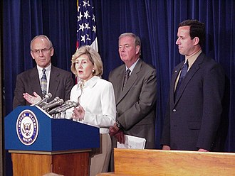 Larry Craig - Craig with Rick Santorum, Frank Murkowski, and Kay Bailey Hutchison in 2001