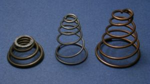 Coil spring - A selection of conical coil springs