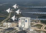 Retired Air Force Col. and astronaut Buzz Aldrin, flies with the U.S. Air Force Thunderbirds (33048701164).jpg