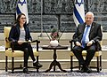 Reuven Rivlin at a meeting with leading female students in honor of International Women's Day, March 2018 (6860).jpg