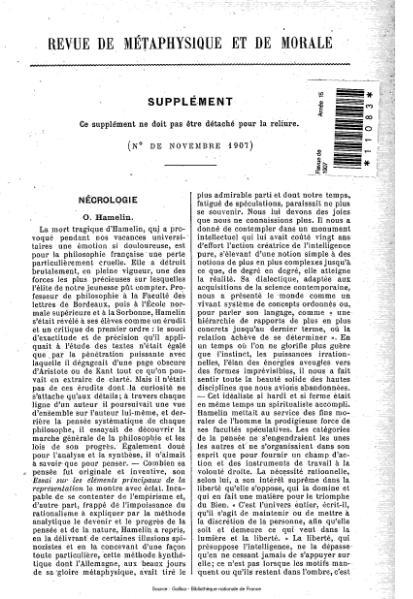 File:Revue de métaphysique et de morale, supplément 6, 1907.djvu