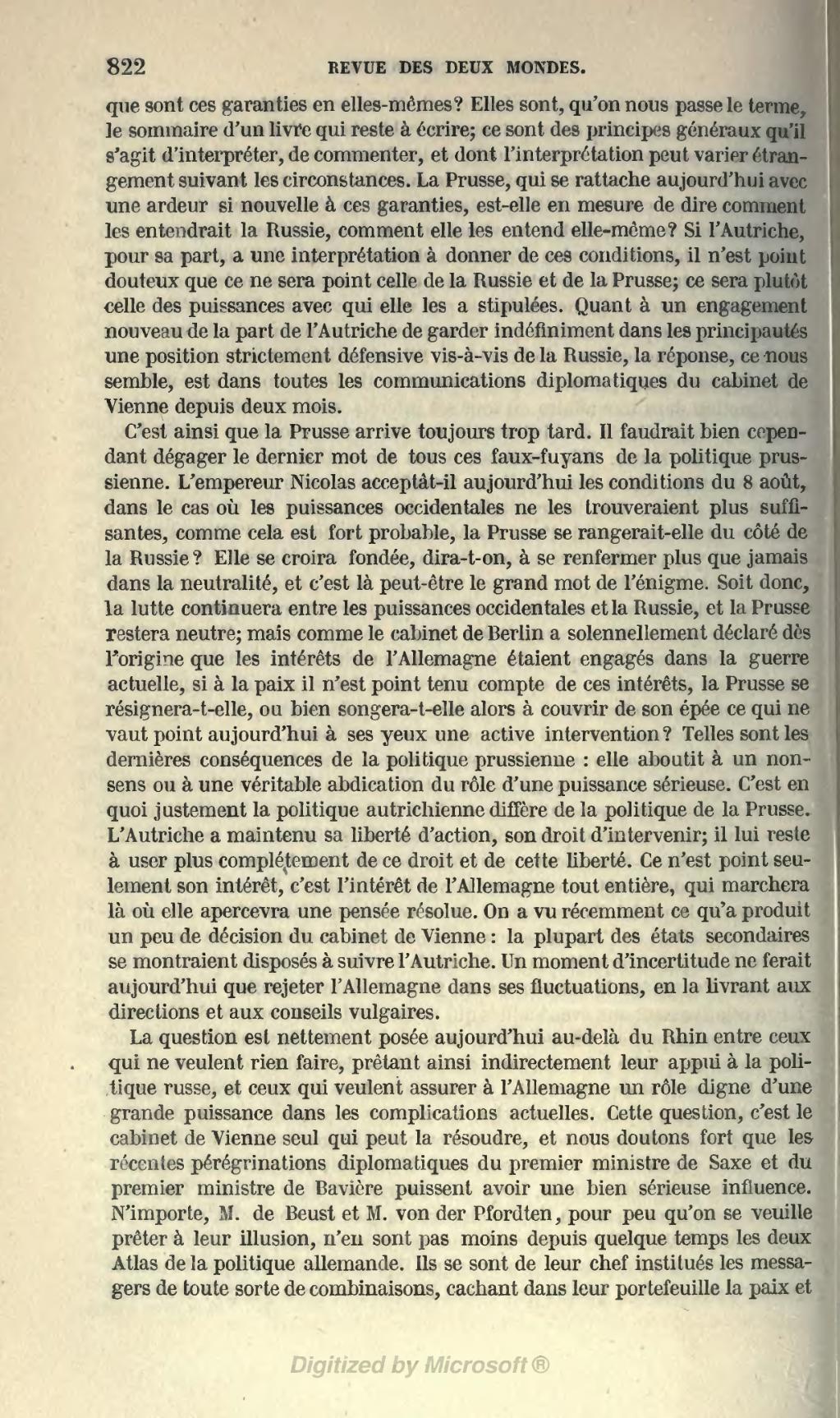 Page revue des deux mondes 1854 tome wikisource - Chef de cabinet du premier ministre ...