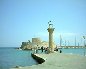 Rhodes (city) - View of the harbour.