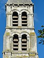 Rhuis (60), église Saint-Gervais-Saint-Protais, clocher, côté est, 2e et 3e étage.JPG