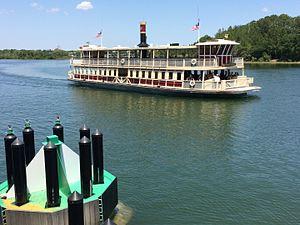 Disney Transport - The Richard F. Irvine ferry in the Seven Seas Lagoon.