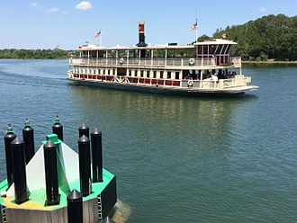 Disney Transport - The Richard F. Irvine ferry in the Seven Seas Lagoon.