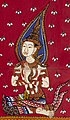 Right bodhisattva art detail, from- A bodhisattva seated on a platform Wellcome L0030796 (cropped).jpg