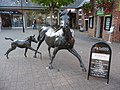 Ringwood , The Furlong, Bronze Horse Sculpture - geograph.org.uk - 1538761.jpg