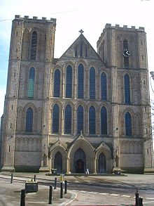 Ripon Cathedrals Facade Presents A Composition Of Pointed Arches Without Tracery