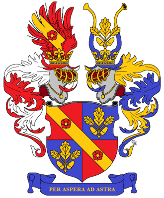 Julius Wagner-Jauregg - Wagner-Jauregg family arms, granted in 1883.