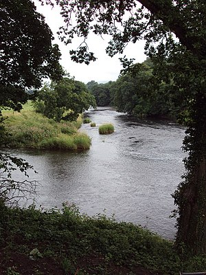 Great Mitton - Image: River Hodder meets River Ribble geograph.org.uk 1421579