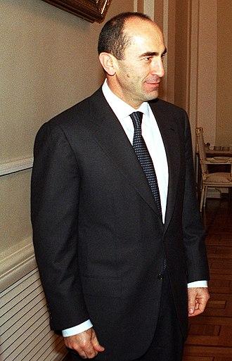 Robert Kocharyan - Kocharyan  in December 2001