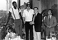 Robert Parish, Larry Bird, Mayor Raymond L. Flynn (9516906723).jpg