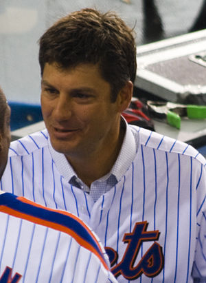 Robin Ventura - Ventura at the last game at Shea Stadium, 2008.