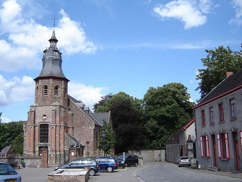 Town center of Roborst. Roborst, Zwalm, East Flanders, Belgium