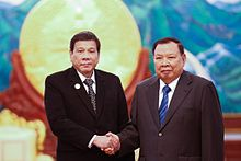 Rodrigo Duterte and Laotian President Bounnhang Vorachith.jpg