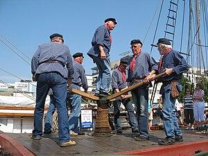 English: Sea shanty choir Rolling Home of Ålan...