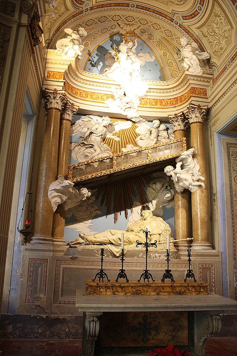 Roma, Kirche Santi Bonifacio e Alessio, Alexiusaltar.JPG