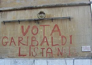 Popular Democratic Front (Italy) - Restored 1948 graffito in Rome's Garbatella neighbourhood calling to vote for the Popular Democratic Front