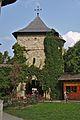 Romania Mănăstirea Moldovița Entrance Tower Store.jpg