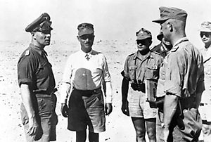 Erwin Rommel and officers, 1942 - World War II German uniform