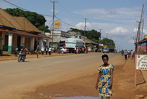 Beni, Democratic Republic of the Congo - Part of Nationale 2, main road in Beni