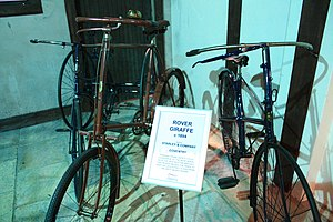 John Kemp Starley - 1894 Rover giraffe safety bicycle in the Coventry Transport Museum