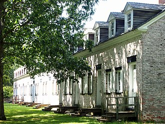 Allaire Village - Image: Row Homes