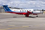 Royal Flying Doctor Service of Australia Central Operations (VH-FXJ) Pilatus PC-12-45 at Wagga Wagga Airport.jpg