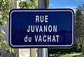 Rue Juvanon du Vachat (Belley), panneau.jpg