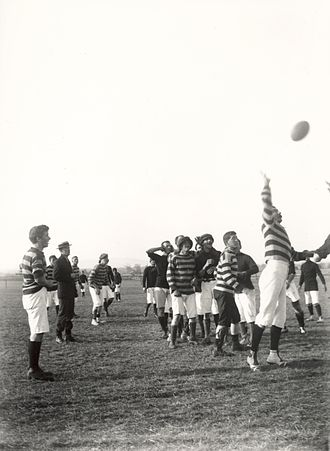 Rugby union in Australia - A rugby game in Queensland during the early 1900s.